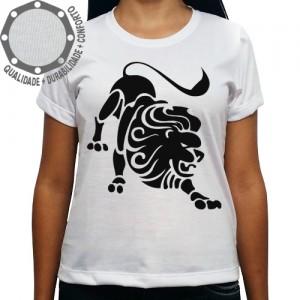 Camiseta Signo Leão Tribal