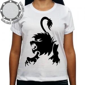 Camiseta Signo Leão Tribal Pose