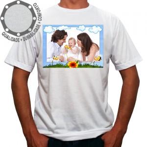 Camiseta Com Sua Foto Moldura Abelhas Céu