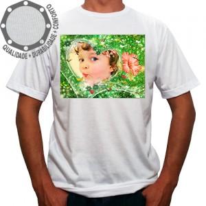 Camiseta Com Sua Foto Moldura Verde Lírio