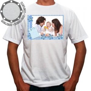 Camiseta Com Sua Foto Moldura Botões Flores