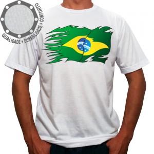 Camiseta Brasil Bandeira Speed
