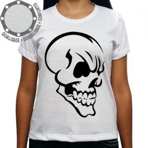 Camiseta Caveira Perfil