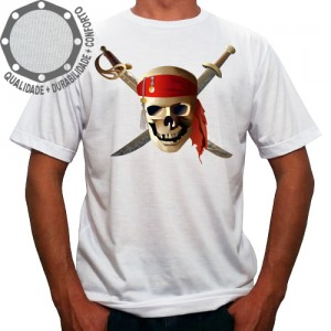 Camiseta Piratas do Caribe Logo