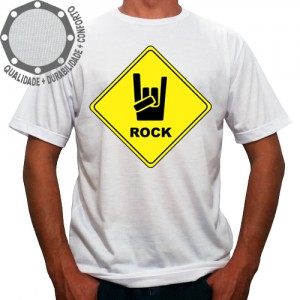 Camiseta Placa Rock