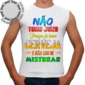 Camiseta Carnaval Não Tomo Juízo Tomo Cerveja