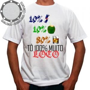 Camiseta Carnaval Tô 100% Muito Loco