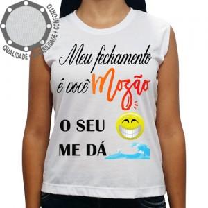 Camiseta Carnaval Mozão o Teu Sorriso Me Da Onda