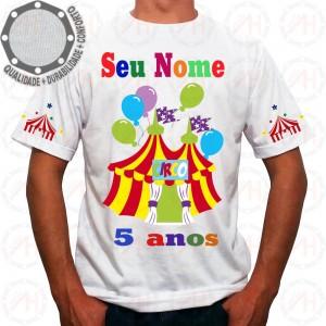 Camiseta Circo Festa e Alegria Balões