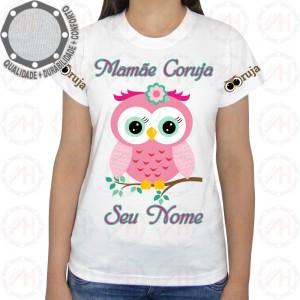 Camiseta Coruja Rosa Galho