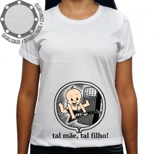 Camiseta Bebê na Barriga Tal Mãe Tal Filho