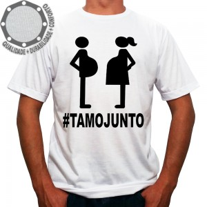 Camiseta Grávida e Grávido TamoJunto