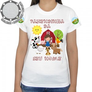 Camiseta Fazendinha Menina