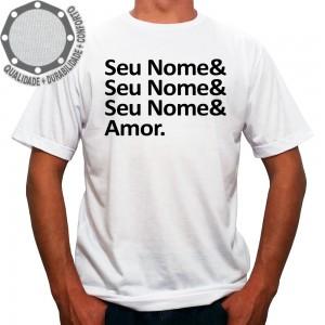 Camiseta Seu Nome & Amor