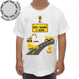 Camiseta Construção Maquinas Estrada