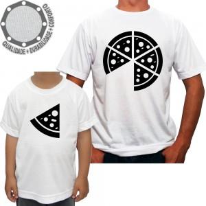 Kit 2 Camisetas Pai e Filho Pizza