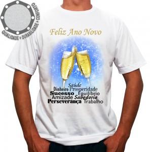Camiseta Feliz Ano Novo Frases Fundo