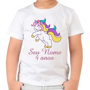 Camiseta Unicórnio Happy Camisa Personalizada