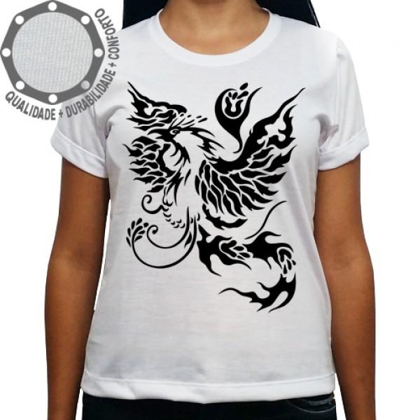 Camiseta Tribal Fenix Preto