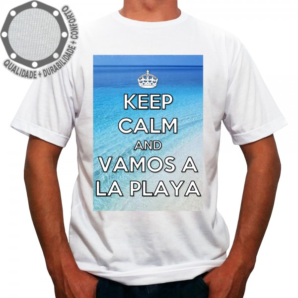 Camiseta Keep Calm And Vamos A La Playa